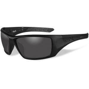 Okulary Taktyczne Wiley X WX Nash - Polarized Smoke Grey - Czarne