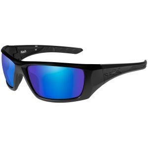 Okulary Taktyczne Wiley X WX Nash - Polarized Blue Mirror - Czarne
