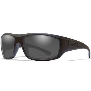 Okulary Taktyczne Wiley X WX Omega - Captivate Smoke Grey - Czarne