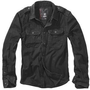 Koszula Brandit Vintage Długi Rękaw Czarna