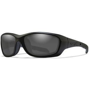 Okulary Taktyczne Wiley X WX Gravity - Captivate Polarized Smoke Grey - Czarne