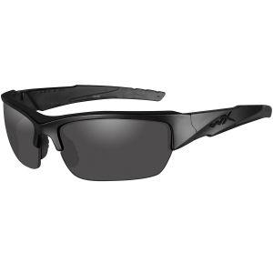 Okulary Taktyczne Wiley X WX Valor - Polarized Smoke Grey - Czarne