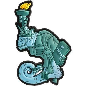 Naszywka Patchlab Chameleon Liberty Lily Zielona