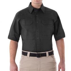 Koszula First Tactical Men's V2 Krótki Rękaw Tactical Czarna