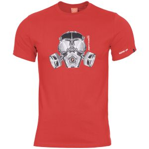 Koszulka T-shirt Pentagon Ageron Gas Mask Lava Red