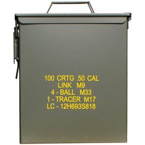 Wojskowa Skrzynka na Amunicję Mil-Tec M9 Cal.50 Duża Oliwkowa