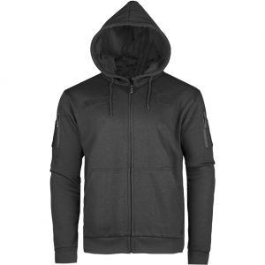 Bluza z Kapturem Mil-Tec Tactical Zipped Hoodie Czarna