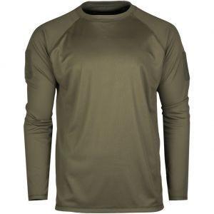 Koszulka Mil-Tec Tactical Quick Dry Długi Rękaw Oliwkowa