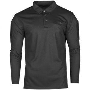 Koszulka Polo Mil-Tec Tactical Długi Rękaw Quick Dry Czarna