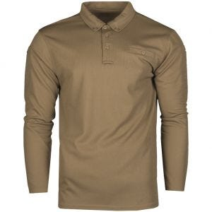 Koszulka Polo Mil-Tec Tactical Długi Rękaw Quick Dry Dark Coyote