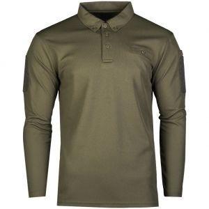 Koszulka Polo Mil-Tec Tactical Długi Rękaw Quick Dry Oliwkowa