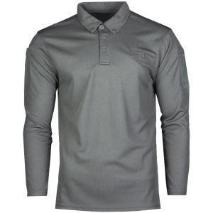 Koszulka Polo Mil-Tec Tactical Długi Rękaw Quick Dry Urban Grey