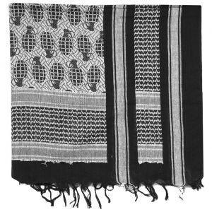 Chusta Arafatka Mil-Tec Shemagh Pineapple Czarno-Biała