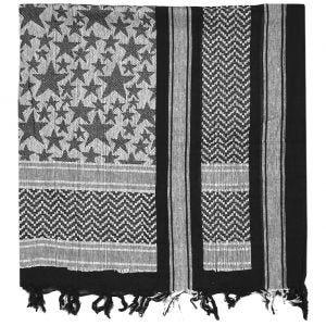 Chusta Arafatka Mil-Tec Shemagh Stars Czarno-Biała
