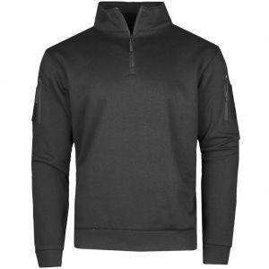 Bluza z Zamkiem Mil-Tec Tactical Sweatshirt with Zipper Czarna