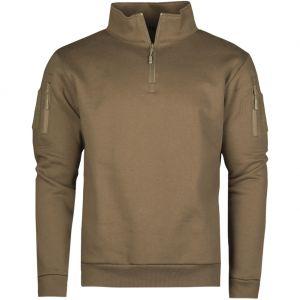 Bluza z Zamkiem Mil-Tec Tactical Sweatshirt with Zipper Dark Coyote