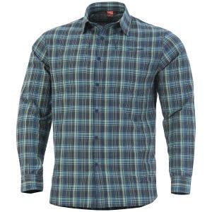 Koszula Taktyczna w Kratkę Pentagon QT Niebieska
