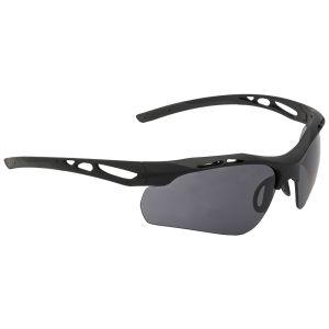 Okulary Taktyczne Swiss Eye Attac - Zestaw 3 Wymiennych Wizjerów - Gumowe Oprawki - Czarne