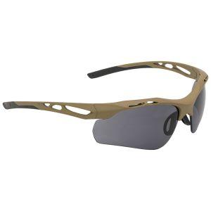 Okulary Taktyczne Swiss Eye Attac - Zestaw 3 Wymiennych Wizjerów - Gumowe Oprawki - Coyote