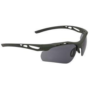 Okulary Taktyczne Swiss Eye Attac - Zestaw 3 Wymiennych Wizjerów - Gumowe Oprawki - Oliwkowe