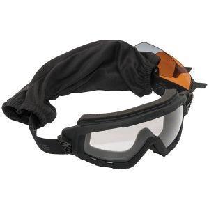 Gogle Taktyczne Swiss Eye G-Tac - Zestaw 3 Wymiennych Wizjerów - Gumowe Oprawki - Czarne
