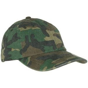 Czapka YP Low Profile Camo Washed Woodland