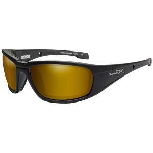 Okulary Taktyczne Wiley X WX Boss - Polaryzacyjne - Czarne