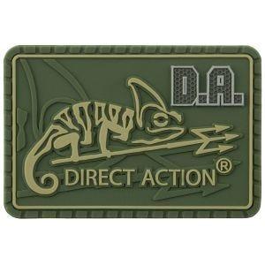 Naszywka Direct Action Logo Średnia Olive Green