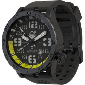 Zegarek Hazard 4 Heavy Water Diver Titanium Tritium Nightwatch Yellow GMT Zielono-Żółty