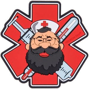 Naszywka Helikon Beardman Medic Czerwona