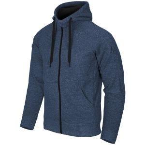 Bluza Helikon Covert Tactical Hoodie Full Zip Niebieski Melanż