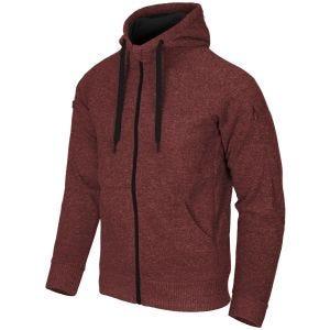Bluza Helikon Covert Tactical Hoodie Full Zip Czerwony Melanż