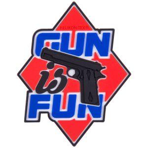 Naszywka Helikon Gun is Fun Czerwona