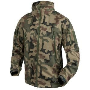 Kurtka Helikon Gunfighter Soft Shell PL Woodland