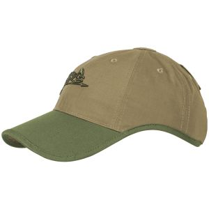 Czapka Helikon Logo Cap Polycotton Ripstop Coyote / Olive Green