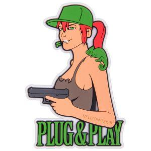 Naszywka Helikon Plug & Play Brązowy
