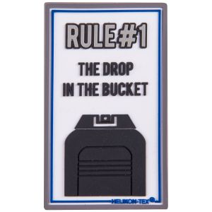 Naszywka Helikon Rule#1 Biała