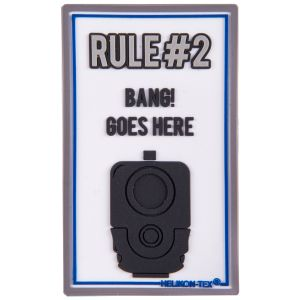 Naszywka Helikon Rule#2 Biała