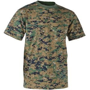 Koszulka T-shirt Helikon USMC Digital Woodland