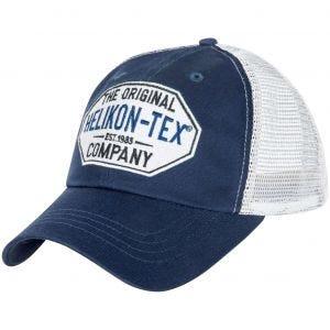 Czapka Bejsbolówka Helikon Trucker Logo Niebieska