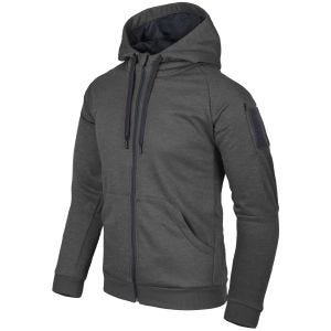 Bluza Helikon Urban Tactical Hoodie Full Zip Czarno-Szary Melanż