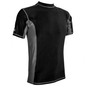 Koszulka Termoaktywna Męska z Krótkim Rękawem Highlander Pro Comp Czarno-Szara