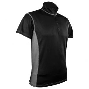 Koszulka Termoaktywna Męska Highlander Pro Tech Zip Neck Czarno-Szara