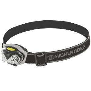 Latarka Czołowa Highlander Spark 4+2 LED Czarno-Srebrna