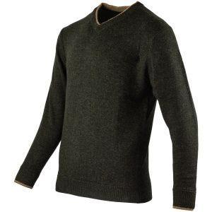 Sweter Jack Pyke Ashcombe V-Neck Dark Olive