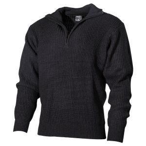 Sweter Akrylowy MFH Navy Czarny