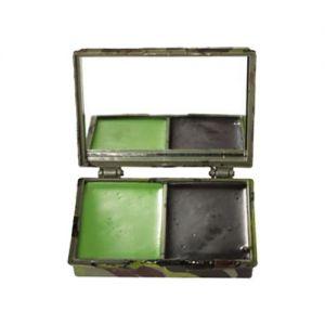 Farba Maskująca Mil-Tec 2 Kolory z Lusterkiem Woodland