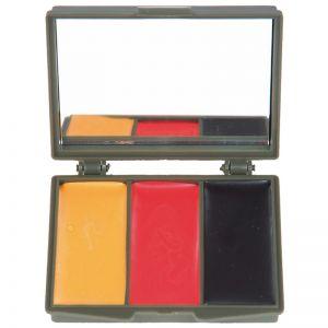 Farba Maskująca Mil-Tec 3 Kolory z Lusterkiem Barwy Niemiec