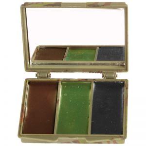 Farba Maskująca Mil-Tec 3 Kolory z Lusterkiem Woodland