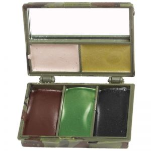Farba Maskująca Mil-Tec 5 Kolory z Lusterkiem Woodland